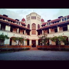 One of historic building in Central Java, Indonesia. Where's the building contain of a million doors. So people call it in Javanese Language Lawang Sewu