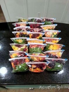 with 8 recipes  Green Smoothies packed and ready for the freezer