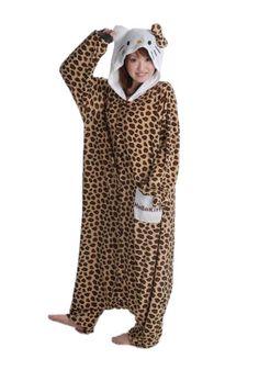Hello Kitty Leopard Brown Kigurumi