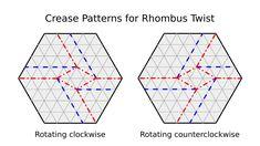 Origami Tessellation Basics: Rhombus Twist