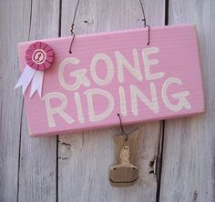 gone riding_pale pink with pink rosette