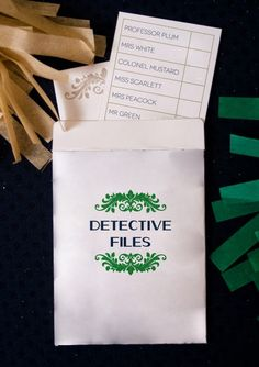 Cluedo: ~ Detective Files (How to Host a Mystery, with free game printable). Geheimagenten Party, Clue Party, Party Games, Party Ideas, Mystery Dinner Party, Mystery Parties, Gala Dinner, Clue Themed Parties, Cluedo