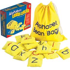 Alphabet Bean Bags are perfect for playing hands-on alphabet games, build words and learn letters with these washable, lightweight bean bags.