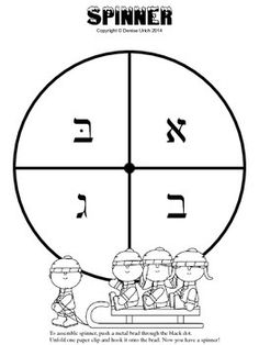 Hands on activity when teaching Hebrew letters. Here is