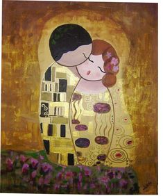 The Kiss, Klimt Art, Gustav Klimt, Charcoal Art, Arte Pop, Art For Art Sake, Love Wallpaper, Couple Art, Cute Illustration