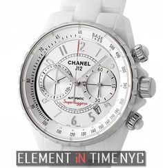 Chanel J12 41mm Superleggera Chronograph White Ceramic Dial Reference#: H3410 ($7,725.00 USD)