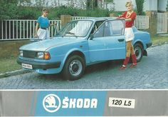 skoda Advertising Ads, Vintage Advertisements, Retro Cars, Vintage Cars, Car Brochure, Volkswagen Group, Trucks And Girls, Car Brands, Old Cars