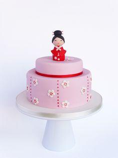 Este é mais um daqueles casos em que me pediram um bolo com um tema que eu andava ansiosa para por em prática, e claro, eu fiquei feli...