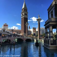 The Last Vegas Venetian draws its theme from the plazas, architecture, and canals of Venice, Italy. Visiting The Venetian is like taking a trip back to the artistic, architectural, and commercial center of the world in the 16th century. You cross a 585,000-gallon canal on the steeply pitched Rialto Bridge, shadowed by the Campanile Bell Tower, to enter the Doge's Palace.
