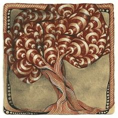 Today in my on-going, very occasional, series about tangles that can be used for landscape elements is deciduous trees. For these I generall...
