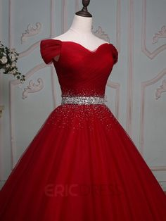 ericdress.com offers high quality Ericdress Off-the-Shoulder Ball Gown Beading…