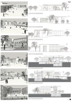 Mention: the architectural project of the Government House of Denizli and its. - Mention: the architectural project of the Government House of Denizli and its near urban design - Urban Design Concept, Urban Design Diagram, Urban Design Plan, Architecture Panel, Architecture Portfolio, Architecture Details, Interior Design Presentation, Architecture Presentation Board, Architectural Presentation