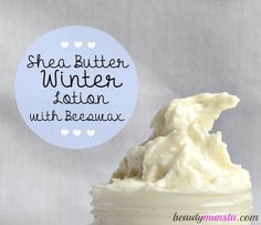 My favorite lotion!! An ultra moisturizing beeswax and shea butter lotion perfect for the cold and dry winter!