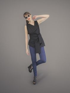 Origami Top - Black Walk this way Jeggings - Navy Origami Top, Walk This Way, Jeggings, Black Tops, Normcore, Navy, Style, Fashion, Black Tank Tops