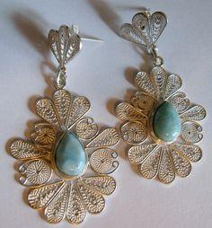Helena Voigt handmade Larimar filigree Jewelry