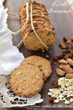Italian Biscuits, Italian Cookies, Biscotti Cookies, Cooking Recipes, Healthy Recipes, Antipasto, Quick Easy Meals, Brunch, Favorite Recipes