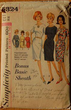 1960s vintage original Simplicity 5324 sewing by VintageGirlUK, £9.00