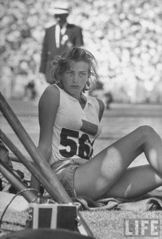 Gunhild Larking, Swedish track and field athlete, Melbourne 1956 Olympics.
