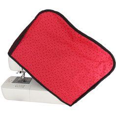 Capa para Máquina de Costura de Patchwork Floral Vermelho