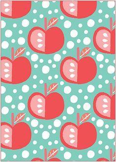 cute apple print