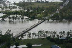Boyne river in flood, Queensland,Australia