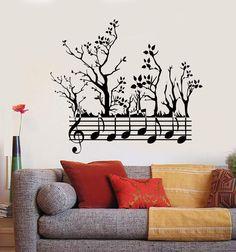 Musique Notes Treble Clef Musique Mur Citations Autocollants Muraux Wall Art 48 cm x 28 cm UK