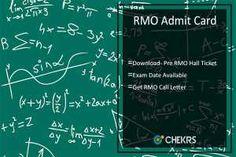 RMO Admit Card #RMO #admitcard #chekrs #edtech #edchat #learning #education #ukedchat