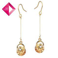 Neoglory MADE WITH SWAROVSKI ELEMENTS Crystal Drop Earrings for Women   Wholesale Brand Jewelry  2013 New (Min Order 10$)-in Drop Earrings f...