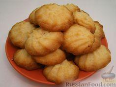 Рецепт: Печенье «Минутка» на RussianFood.com Holiday Fun, Deserts, Good Food, Potatoes, Favorite Recipes, Sweets, Candy, Snacks, Cookies