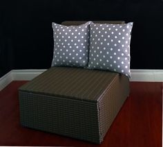 Double Cushion Cover  Grey White Polka Dot by RockinCushions, $44.00 This is one cushion cover that takes 2 pillow inserts. Perfect for a small rocker!