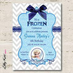 Frozen Birthday Party Invitation by LibbyKateSmiles on Etsy