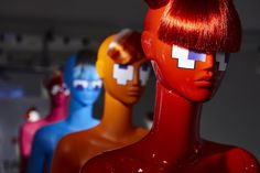 """ABC MANNEQUINS,Milan, Italy, """"3...2...1...Let's Play! Pac Mannequins"""", (JUNO COLLECTION), pinned by Ton van der Veer"""