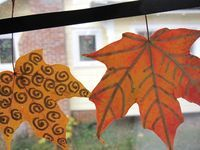 A Thanksgiving Leaf Banner - The Artful Parent