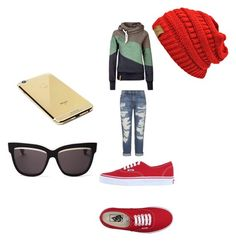 """Chill day"" by februarylenzie on Polyvore featuring Current/Elliott, Vans, Goldgenie and Christian Dior"