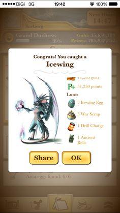 Icewing Egg Loot.