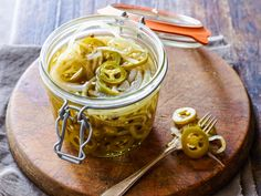 Easy Pickled Jalapenos : Homemade pickled jalapenos are a treat to have on hand for chilis, tacos, salads and sandwiches. Instead of boiling the peppers, pour a hot brine over them