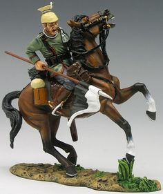 World War 1 German Army FW038 Uhlan on Rearing Horse - Made by King and Country Military Miniatures and Models. Factory made, hand assembled, painted and boxed in a padded decorative box. Excellent gift for the enthusiast.