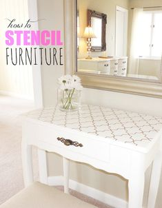 10 Thrift Store Furniture Makeovers and Painting Tips Thrift Store Furniture, Refurbished Furniture, Paint Furniture, Furniture Projects, Furniture Making, Furniture Makeover, Home Projects, Stenciling Furniture, Antique Furniture