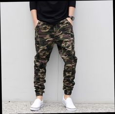 51.00$  Buy here - http://alizs6.worldwells.pw/go.php?t=32615249712 - Hot!Casual Military Outdoors Emoji Jogger Men Pants Camo harem pants Male plus size S-6XL taper loose Elastic pants Pencil Jeans 51.00$