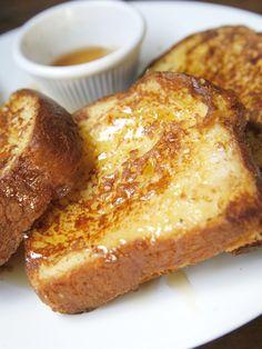 Pain perdu au sirop d'érable - Recette de cuisine Marmiton : une recette