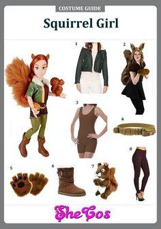 Girl Costumes, Cosplay Costumes, Halloween Costumes, Cosplay Ideas, Costume Ideas, Squirrel Costume, Unbeatable Squirrel Girl, Uber Ride, Bouncy Castle