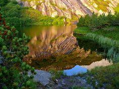 Fulensee , Ersfeldertal, im Morgenlicht