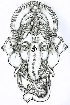 Resultado de imagen de ganesha tattoo