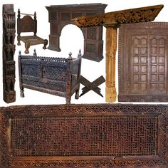Solid wood furniture from Nuristan Afghanistan and swat valley pakistan