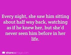 Hij kent haar haar. Heel verleden Samen. Ze moest vergeten er iss van alles gebeurt