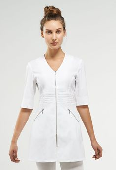 Noel Asmar Uniforms, the Lauren in White. Healthcare Uniforms, Medical Uniforms, Work Uniforms, Nursing Uniforms, Spa Uniform, Scrubs Uniform, Nursing Dress, Nursing Clothes, Girly Outfits