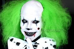 Scary Clown Halloween Makeup for Men and Boys