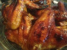 Sticky MOLASSES & KAHLUA Sweet & Tangy CHICKEN WINGS * Baked * appetizer or main dish *