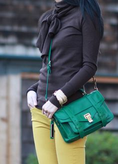 Proenza Schouler PS1 Tiny in Emerald Green (official name - Watermelon)