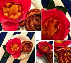 PÉTALOS DE ROSA (CON MELOCOTÓN Y PERA) Coco, Desserts, Rose Petals, Dessert, Easy Recipes, Tailgate Desserts, Deserts, Postres, Plated Desserts